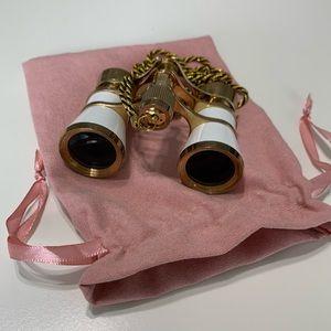 Mini Gold & White Binoculars